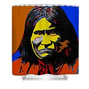 Art Homage Andy Warhol Geronimo 1887-2009  Shower Curtain