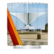 The Milwaukee Art Museum By Santiago Calatrava Shower Curtain