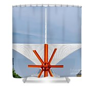 The Milwaukee Art Museum By Santiago Calatrava Shower Curtain