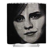 Art In The News 17-emma Watson Shower Curtain