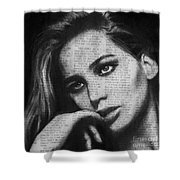 Art In The News 36- Jennifer Lawrence Shower Curtain