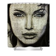 Art In The News 44- Angelina Jolie Shower Curtain