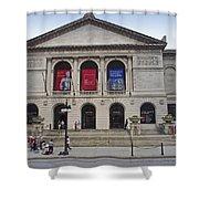 Art Institute West Facade Shower Curtain