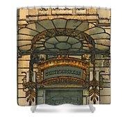Art Nouveau Doorway In Ljubljana Shower Curtain