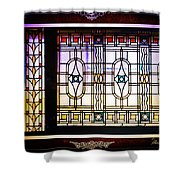 Art-nouveau Stained Glass Window Shower Curtain