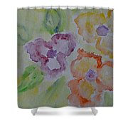 Art Of Watercolor Shower Curtain