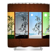 Art On The Wall Shower Curtain by Gianfranco Weiss