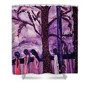 Art Purple Rain Shower Curtain