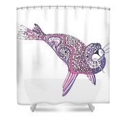 Art Seal Shower Curtain
