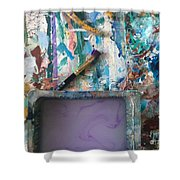 Art Table With Water And Brush Shower Curtain