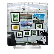 Art Tent Shower Curtain