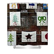 art textures holidays in Old Towne Shower Curtain