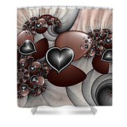 Art With Heart Shower Curtain
