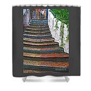 Artful Stair Steps Shower Curtain