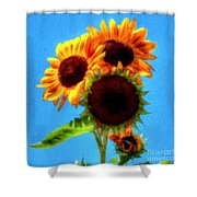 Artful Sunflower Shower Curtain