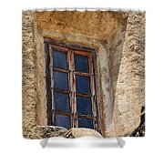 Artful Window At Mission San Jose In San Antonio Missions National Historical Park Shower Curtain