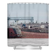 Arthur Anderson Freighter Shower Curtain