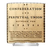 Articles Of Confederation, 1777 Shower Curtain