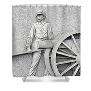 Artillery Detail On Monument Shower Curtain