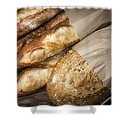Artisan Bread Shower Curtain by Elena Elisseeva