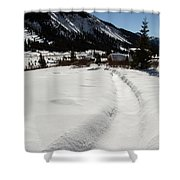 Artist Cabin Snowy Pathway Shower Curtain