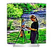 Artist Color Shower Curtain