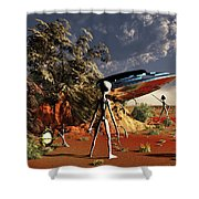 Artist Concept Of The Roswell Incident Shower Curtain