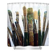 Artist Paintbrushes Shower Curtain