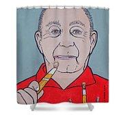 Artist Paints Artist Shower Curtain