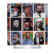 Artist Portraits Mosaic Shower Curtain by Tom Roderick