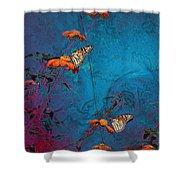 Artistic Butterflies Shower Curtain