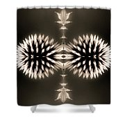 Artistic Flower Abstract Shower Curtain