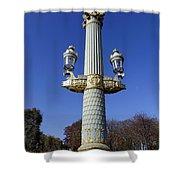 Artistic Lamp Post At The Place De La Concorde In Paris France Shower Curtain