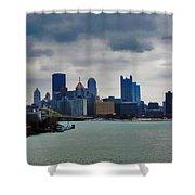 Artistic Pittsburgh Skyline Shower Curtain