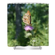 Artistic Butterfly Stand  Shower Curtain