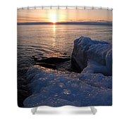 Artistic Sunrise Shower Curtain