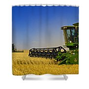 Artists Choice Two Combine Harvesters Shower Curtain