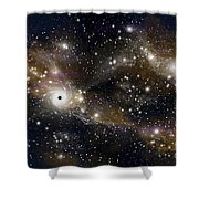 Artists Concept Of A Black Hole Shower Curtain by Marc Ward