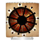 Arts And Crafts Chandelier At Summit Inn Shower Curtain
