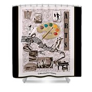 Arts Collage Shower Curtain