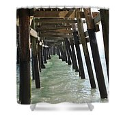 Long Walk Short Pier Shower Curtain