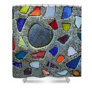 Artsy Glass Chip Sidewalk Shower Curtain