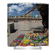 Artwork At Street Market In Curacao Shower Curtain