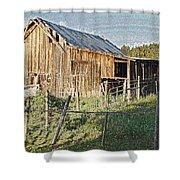 Artwork Barn Shower Curtain