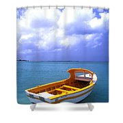 Aruba. Fishing Boat Shower Curtain by Anonymous