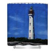 Aruba Light House Shower Curtain