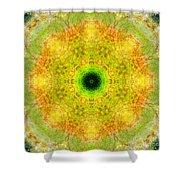 Moss Mandala Shower Curtain