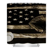 As American As Apple Pie Shower Curtain