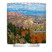 As Far As The Eye Can See From Farview Point In Bryce Canyon-utah   Shower Curtain