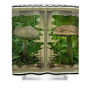 As I Age - A Mushroom's Tale Shower Curtain